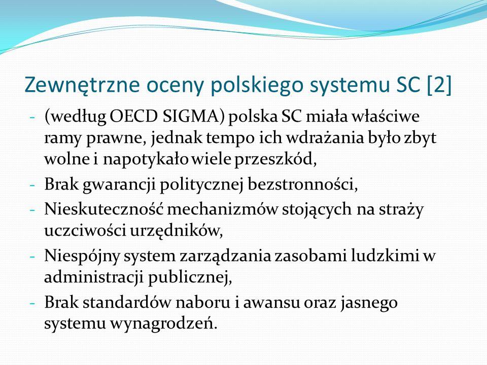 Zewnętrzne oceny polskiego systemu SC [2]